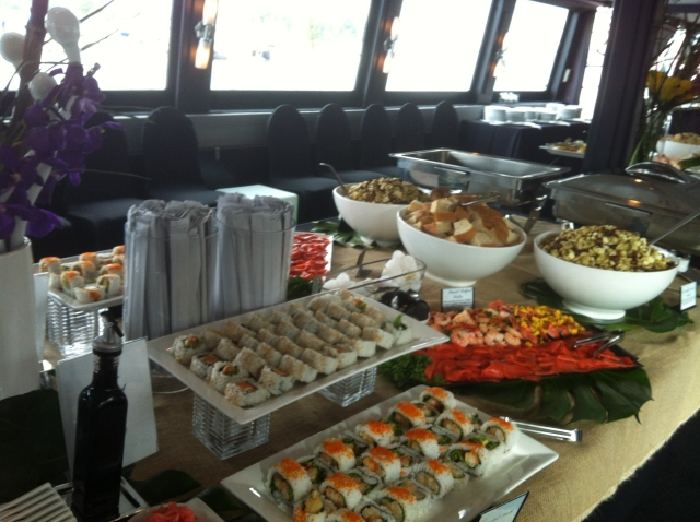 The Corporate Yacht Food Stations Vancouver Cruises